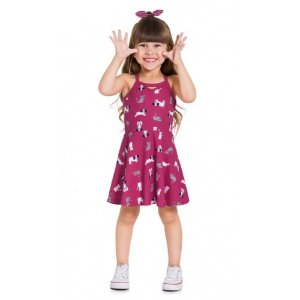 Vestido Infantil Feminino Cachorrinho - Kyly