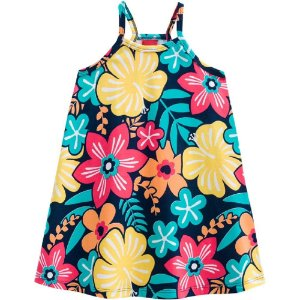 Vestido Infantil Feminino Estampado Floral -  Kyly