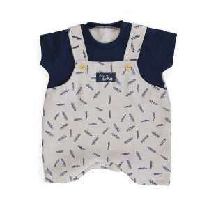 Jardineira Bebê Mini Folhas - Keko Baby