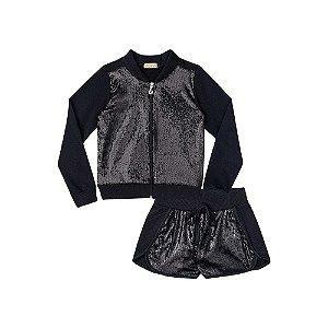Jaqueta e Shorts com Paete e Molecotton -  Kukiê