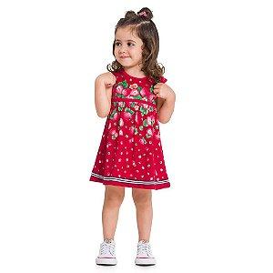 Vestido Infantil Morango - Kyly