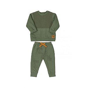 Conjunto Infantil em Moletom Masculino - Blusão e Calça - UP BABY