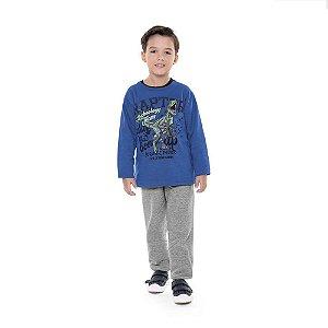Conjunto de Moletom Infantil Masculino Dinossauro