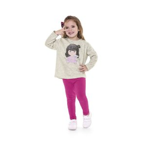 Conjunto Infantil Feminino de Moletom Follow Your Dreams - Fakini