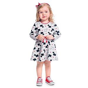 Vestido Infantil Moletinho Cachorrinho - Kyly