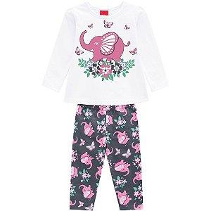 Conjunto Infantil Feminino Elefante - Kyly
