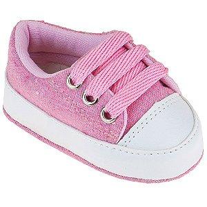 Tênis Bebê Feminino Jeans/Rosa