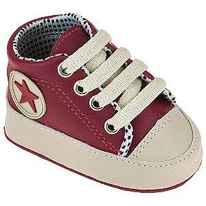 Tênis Masculino Bebê Estrela - Vermelho