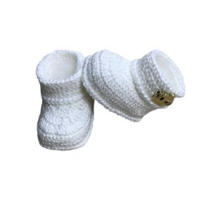 Botinha de Crochê Masculina Branca