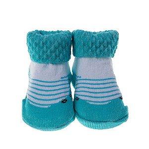 Meia Bebe Baby in Box Masculina Cor Azul (16-21)