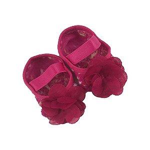 Meia Sapatilha Bebe Com aplique Flor - Puket
