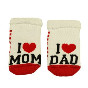 Meia Bebe I Love Mom and  Dad - Puket