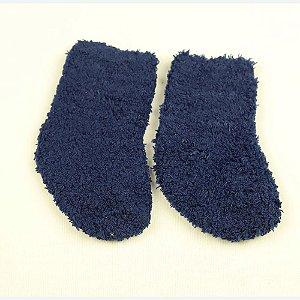 Meia Bebe Soft Lisa Azul Marinho - Puket