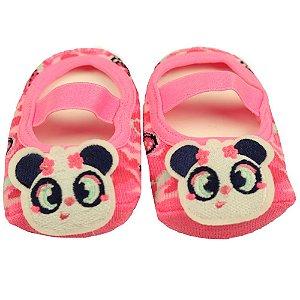 Meia Sapatilha Bebe Com aplique Panda - Puket