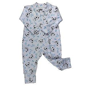 Macacão Longo Bebê Masculino Com Ziper - Branco -  Doctor Baby