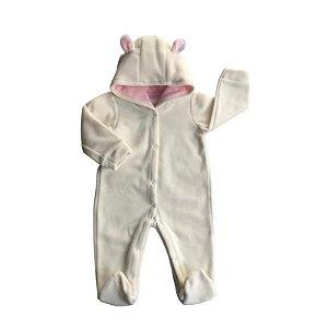 Macacão Longo Bebê Feminino Soft- Beige (P)