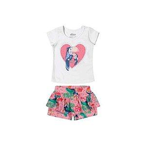 Conjunto Bebê Blusa Estampa de Tucano e Shorts