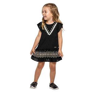 Vestido Infantil Feminino Preto em New Granada