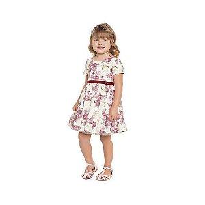 Vestido Infantil Luxo Com Brilhos e Laços nas Costas - Playground