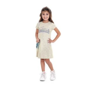 "Vestido Infantil Estampa ""Mermaid's Diary"""