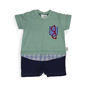 Macacão Bebê Óculos - Keko Baby