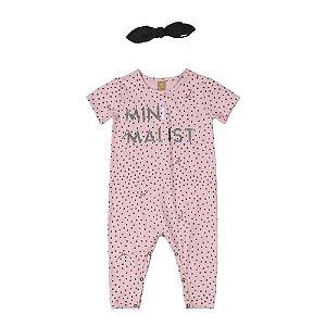 Macaquinho Manga Curta e Faixa de Cabelo em Cotton - Minimalist - Up baby