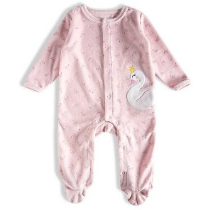 Macacão Feminino Bebê Com Aplique De Cisne  - Rosa - Tip Top