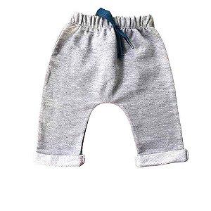 Calça Saruel Infantil Masculino Moletinho Cinza