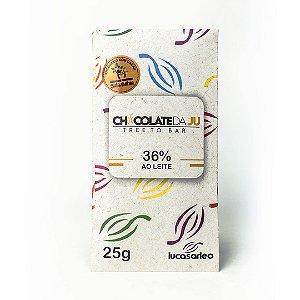 Chocolate da Ju 36% ao Leite 25g - CHOCOLATE DA JU