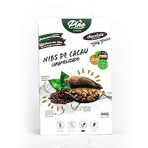 Nibs de Cacau Caramelizado com Whey Protein 200g - PINE CACAU