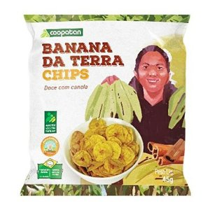 Banana da Terra Chips Doce com Canela 45 g