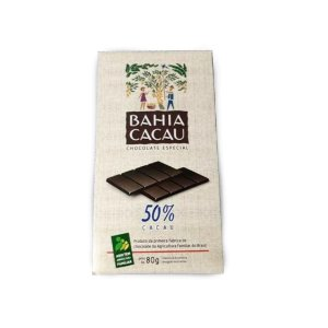 Barra de Chocolate Bahia Cacau 50% 80 g