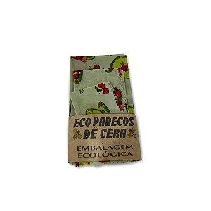 Kit com 3 Embalagens Ecológicas Estampa Doces