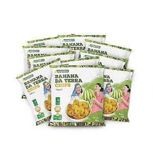 Banana da Terra Chips Salgada 45 g - 10 unid