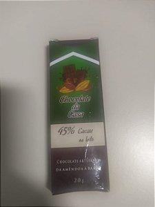 Chocolate Artesanal Chocolate da Casa 45%