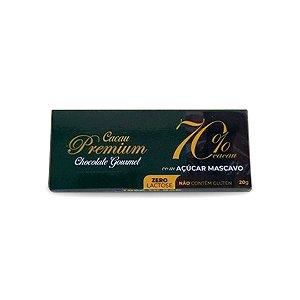 Chocolate Premium 70% com Açúcar Mascavo