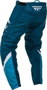 Calça Motocross Enduro Trilha Fly F16 2020 Azul / Branco 46