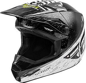 Capacete Motocross Enduro Trilha Fly Kinetic K120 Preto / Branco 58