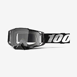 Oculos Motocross Enduro Trilha 100% Armega Transparente Preto