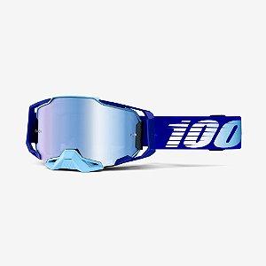Oculos Motocross Enduro Trilha 100% Armega Espelhado Azul
