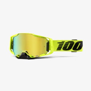 Oculos Motocross Enduro Trilha 100% Armega Espelhado Verde