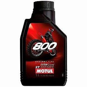 OLEO MOTOR MOTUL 800 2T FACT LINE OFF ROAD SINTETICO 1 LITRO