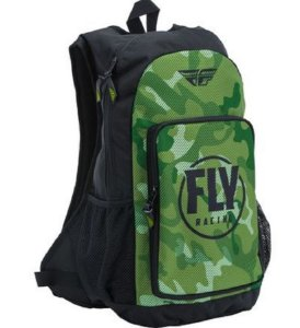 MOCHILA NOTEBOOK MOTOCROSS TRILHA FLY RACING JUMP VERDE CAMO