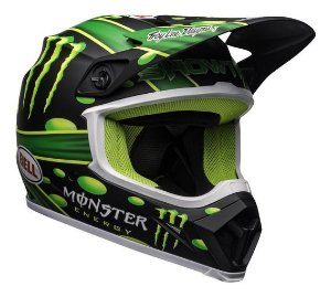 CAPACETE BELL MX 9 MIPS SHOWTIME MONSTER PRETO VERDE 58