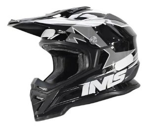 CAPACETE MOTOCROSS TRILHA IMS ARMY CINZA TAM G 60