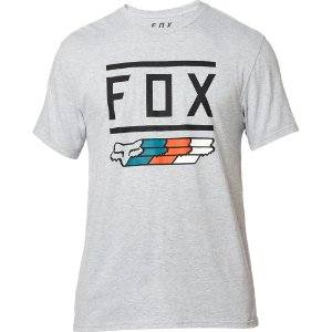 CAMISETA CASUAL MOTOCROSS FOX LIFESTYLE SUPER CINZA TAM G