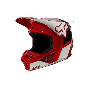 CAPACETE MOTOCROSS FOX MX V1 MIPS REVN FLAME VERMELHO TAM 60
