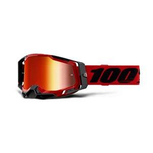OCULOS MOTOCROSS TRILHA 100% RACECRAFT 2 2021 RED VERMELHO