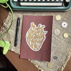 Caderno Meu coração Vermelho