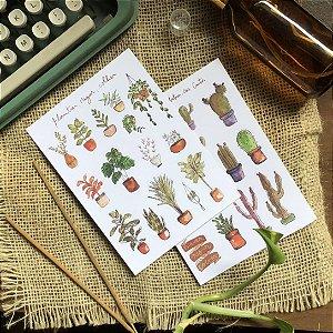 Kit adesivos plantas